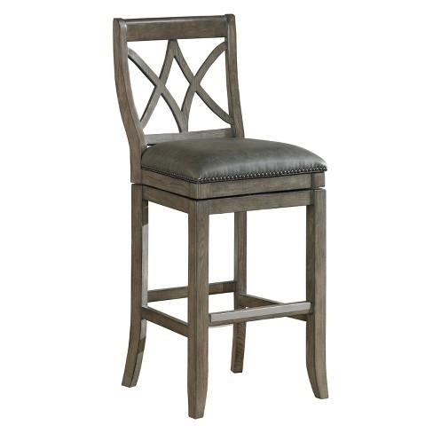 Strange 26 Hadley Swivel Leather Counter Stool Hardwood Charcoal American Heritage Billiards Machost Co Dining Chair Design Ideas Machostcouk