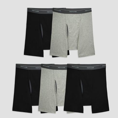 2a21da5cff3ce4 Fruit Of The Loom Men s 5pk Coolzone Boxer Briefs - Black Gray XL   Target