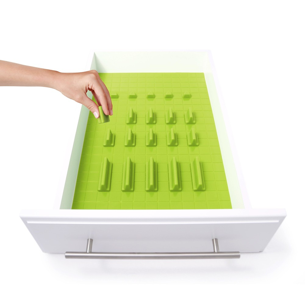 Image of Drawer Decor 21pc Customizable Drawer Organizer Lime (Green)