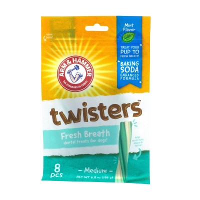 Arm & Hammer Twisters Dental Dog Treats - 8ct
