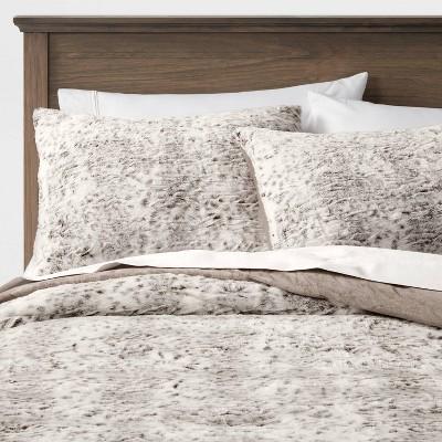 Textured Faux Fur Snow Leopard Comforter & Sham Set  - Threshold™