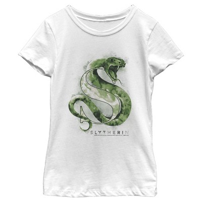 Girl's Harry Potter Slytherin Snake Watercolor T-Shirt