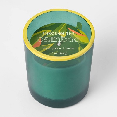 12oz Painted Tapered Glass Through the Bamboo Candle - Opalhouse™
