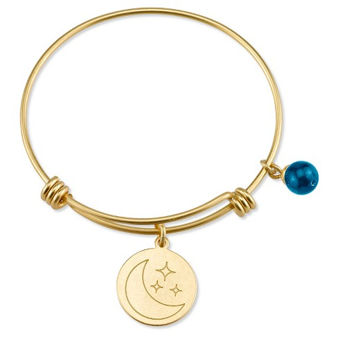 "Women's Stainless Steel love moon and back Expandable Bracelet - gold (8"") - image 1 of 2"