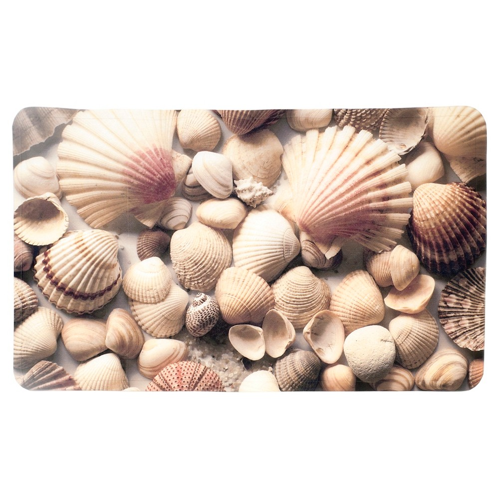 Image of Seashells Bath Mat Beige - Splash Home