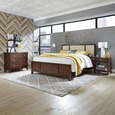 King Bungalow Bedroom Set Medium Brown - Home Styles