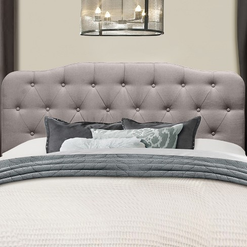Nicole Upholstered Headboard King Stone Fabric Metal Headboard Frame Not Included Hillsdale Furniture Target