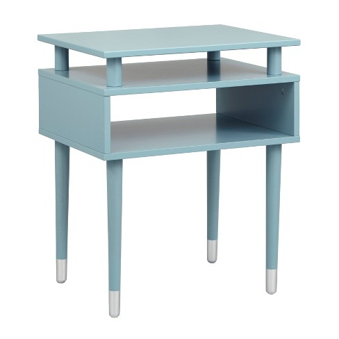 Peachy Margo Antique End Table Blue Buylateral Lamtechconsult Wood Chair Design Ideas Lamtechconsultcom