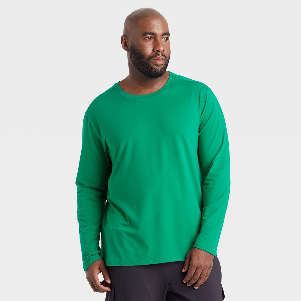 Men 39 S Long Sleeve Performance T Shirt All In Motion 8482 Green L