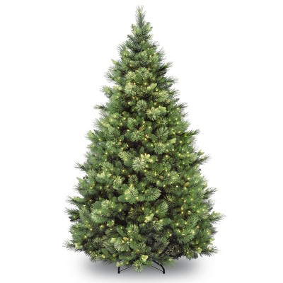 7ft National Christmas Tree Company Pre-Lit Carolina Pine Full Artificial Christmas Tree with 700 Clear Lights