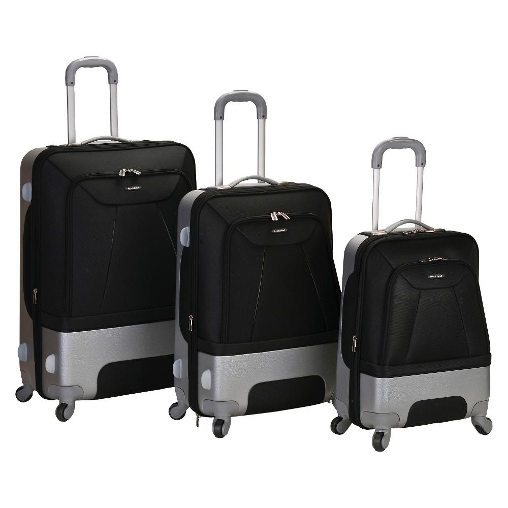Rockland Rome 3pc. Hybrid Abs Luggage Set - Black