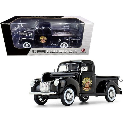 """1940 Ford Pickup Truck Black """"The Busted Knuckle Garage"""" 1/25 Diecast Model Car by First Gear"""