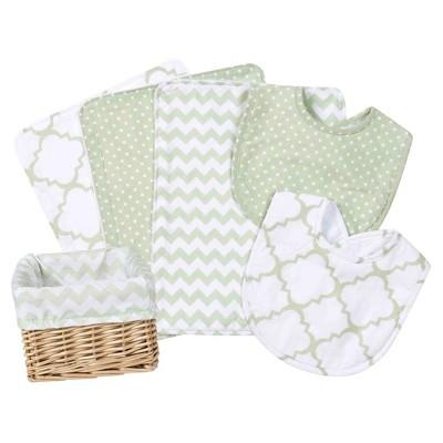 Trend Lab Feeding Basket Gift Set - Sea Green 7pc