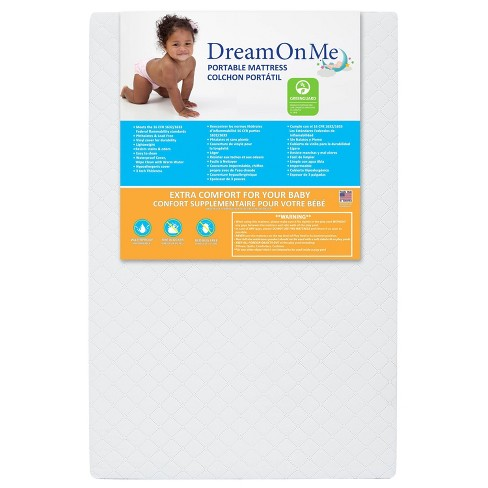 """Dream On Me 3"""" Extra Firm Portable Crib Mattress - White - image 1 of 4"""