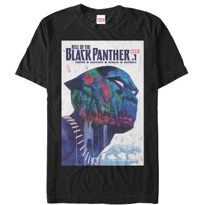 Men's Marvel Black Panther Rise of Comic Book Cover T-Shirt