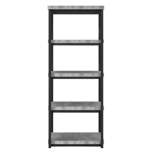 "60"" Meyers Bookcase - Concrete Gray - Room & Joy - image 1 of 7"