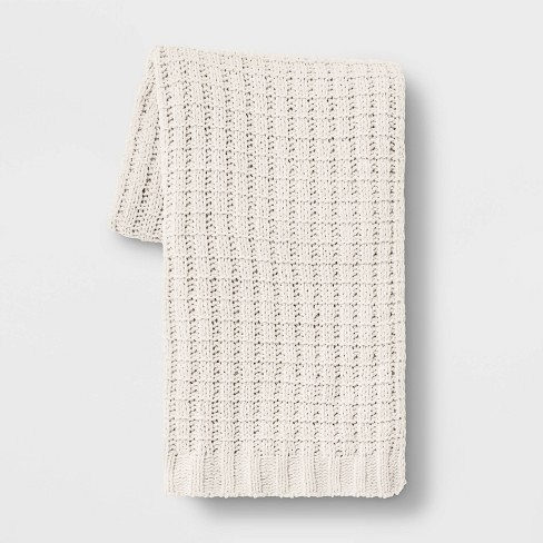 Chenille Throw Blanket - Threshold™ - image 1 of 3