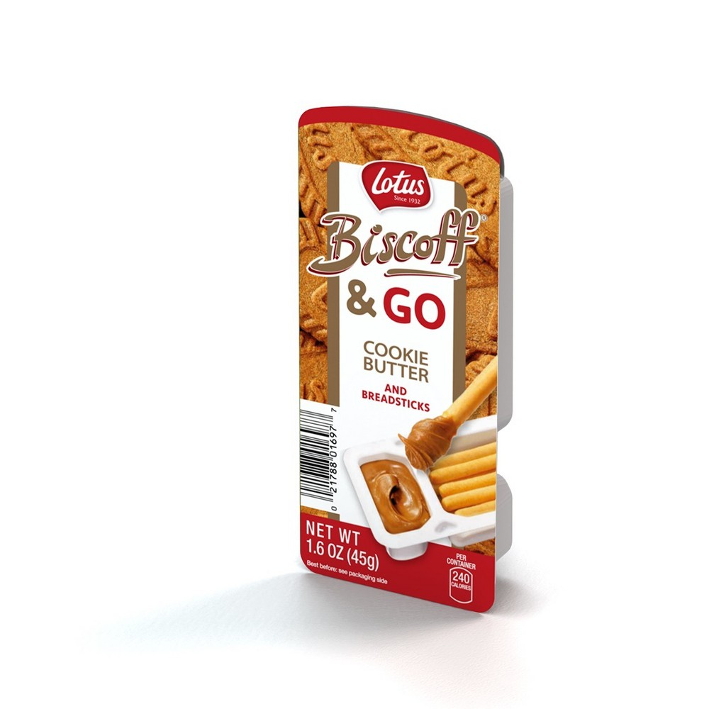 Lotus Biscoff & Go Cookie Butter and Breadsticks - 1.6oz
