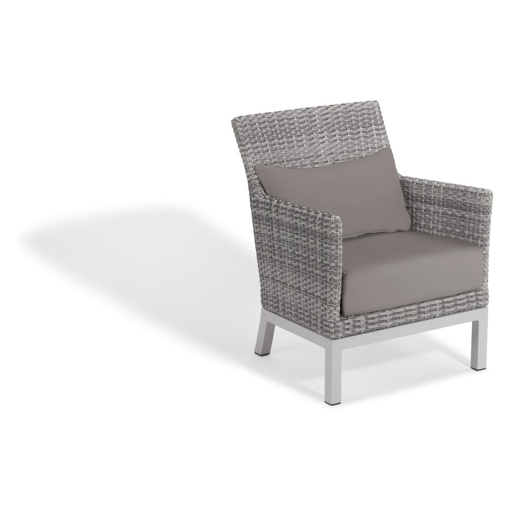 Set of 2 Argento Club Chair with Lumbar Pillow Stone Gray - Oxford Garden