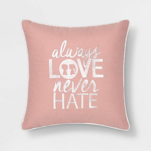 "Boy Meets Girl Always Love 18""x18"" Throw Pillow - image 1 of 5"
