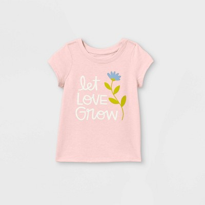 Toddler Girls' 'Let Love Grow' Short Sleeve T-Shirt - Cat & Jack™ Light Pink
