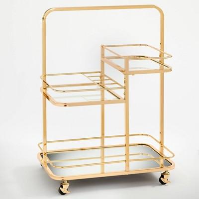 Alcott 3 Tier Bar Cart Bright Gold - angelo:HOME