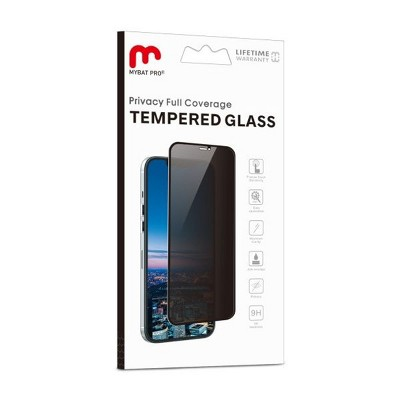 MyBat Pro Privacy Full Coverage Tempered Glass Screen Protector Compatible With Apple iPhone 12 (6.1) / 12 Pro (6.1) - Black