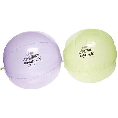 Sportime FingerLights Balls, 10 Inches, Green/Purple, set of 2