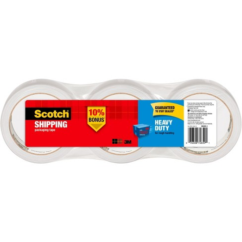 "Scotch Shipping & Packaging Tape, Heavy Duty, 2"" X 38Yds, 3Pk - image 1 of 4"