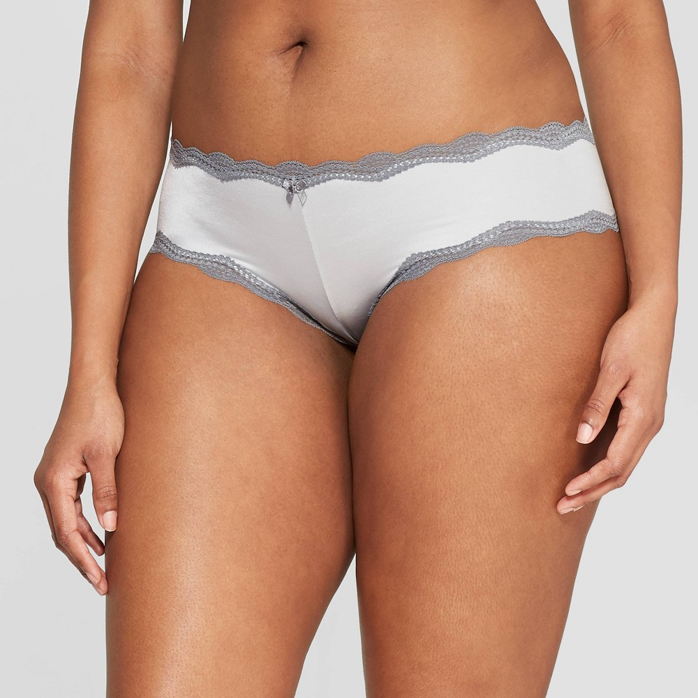 Women's Micro Cheeky with Lace - Auden Light Gray M