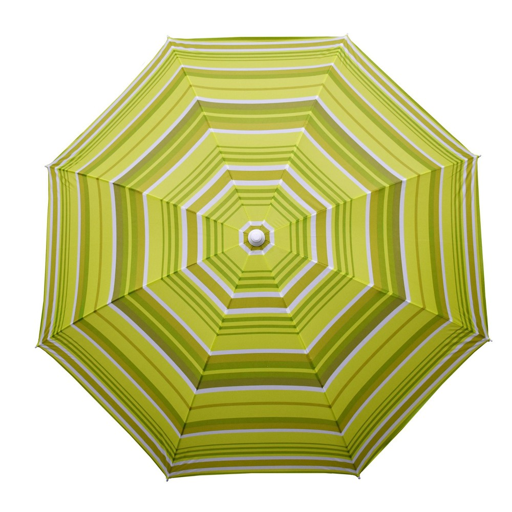 Image of 9' Kiwi Stripe Beach Umbrella Green - Astella