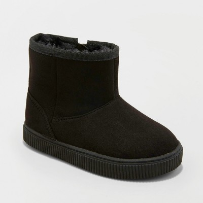 Toddler Boys' Arias Sherpa Lined Ankle Fashion Boots - Cat & Jack™ Black 4