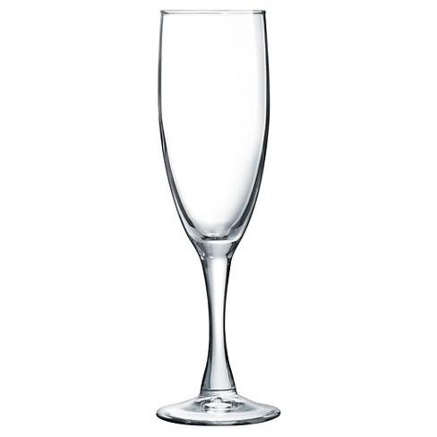 luminarc atlas 5 75oz glass champagne flute set of 4 target