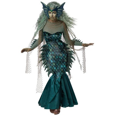 California Costumes Dark Sea Siren Adult Costume