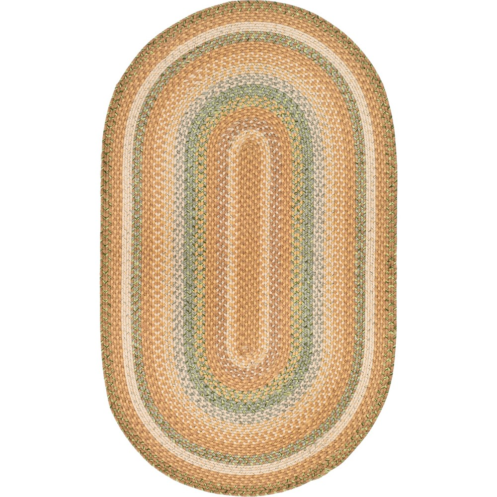 3X5 Stripe Woven Oval Accent Rug Tan - Safavieh Price