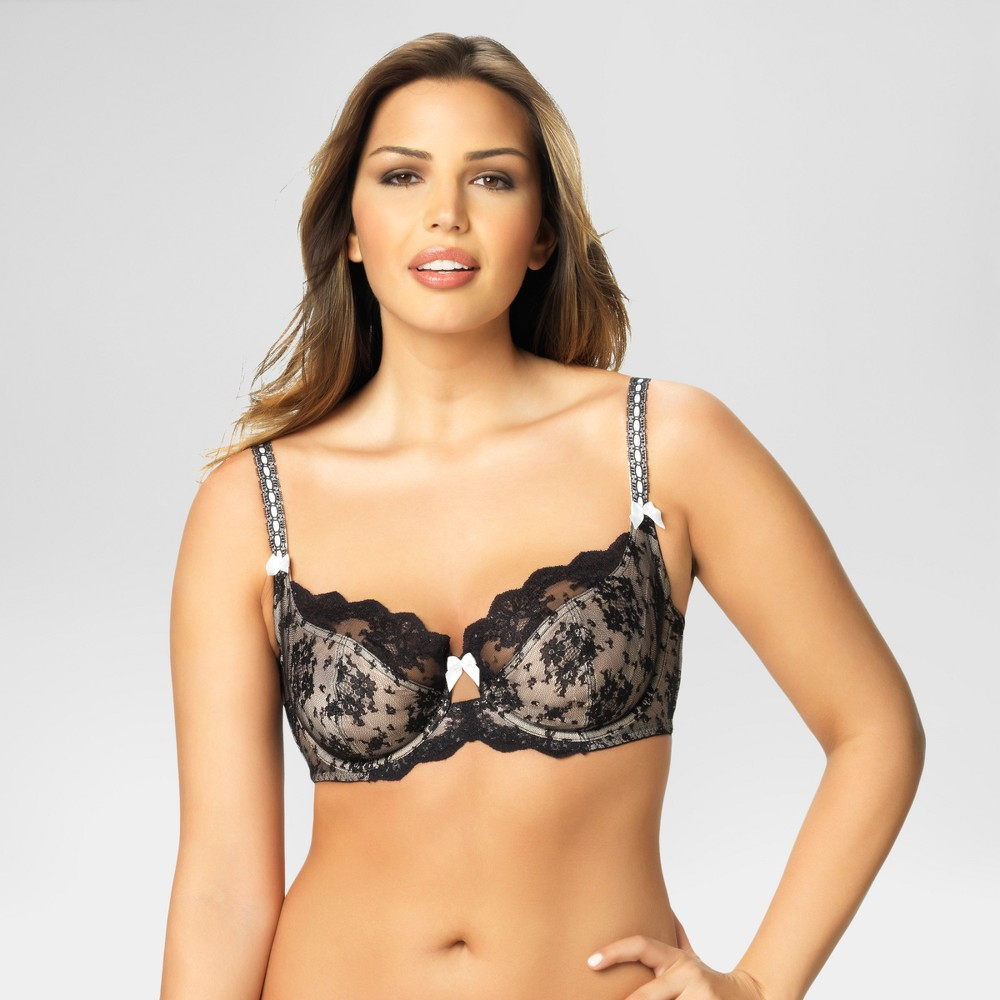 Paramour Women's Captivate Unlined Bra - Black 36DDD