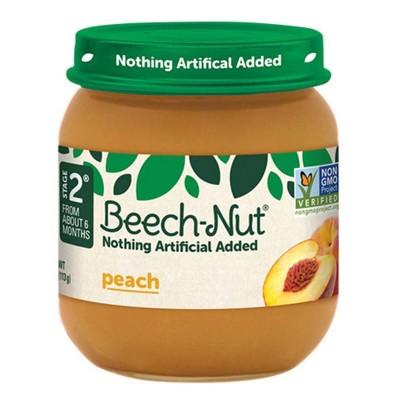 Beech-Nut Peach Baby Food Jar - 4oz