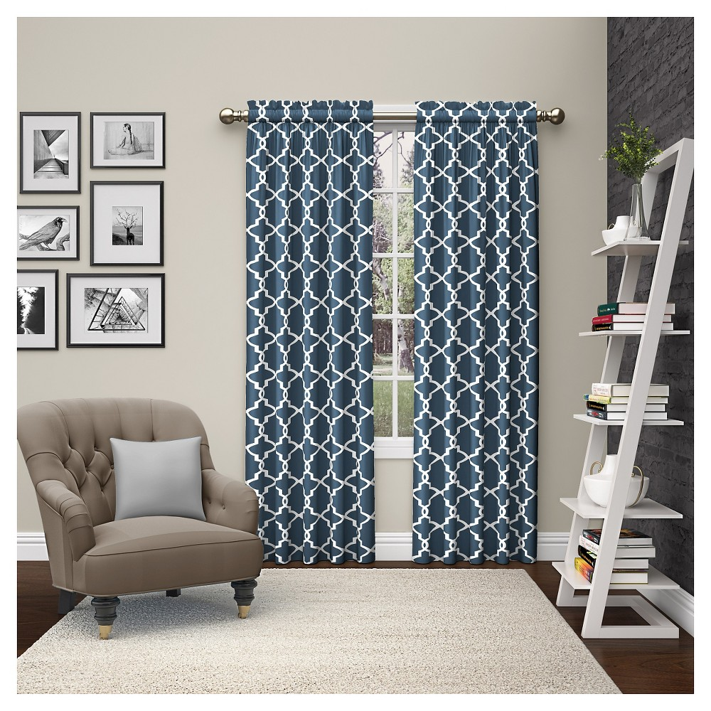 "Image of ""2 Piece Vickery Curtain Panels Blue (28""""x84"""") Pairs To Go"""