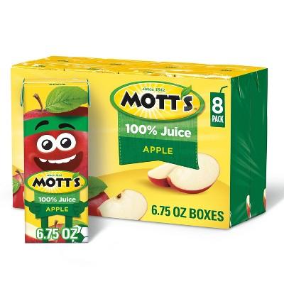 Mott's 100% Juice Original Apple - 8pk/6.75 fl oz Boxes