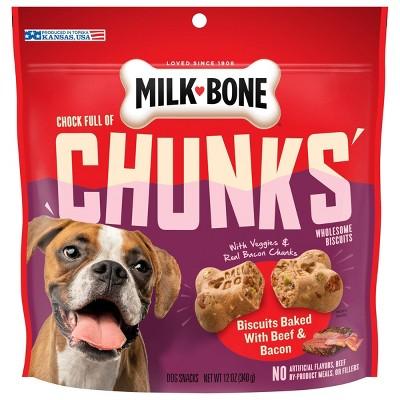 Milk-Bone Chunks with Beef & Bacon Crunchy Dog Treats