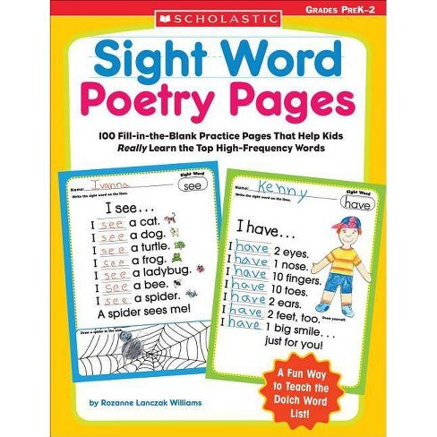 Sight Word Poetry Pages - by  Rozanne Williams & Rozanne Lanczak Williams (Paperback) - image 1 of 1