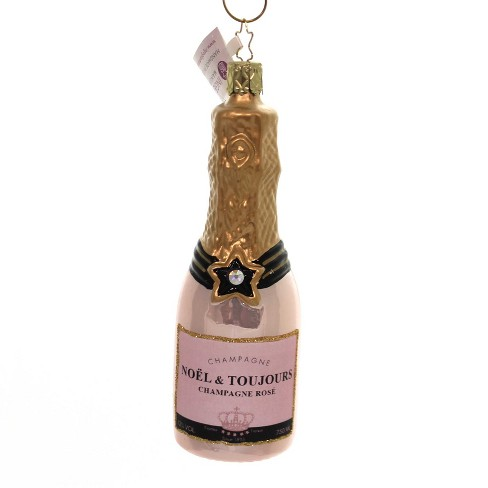 "Inge Glas 5.0"" Rosé Champagne Ornament Toast Christmas New Year - image 1 of 2"