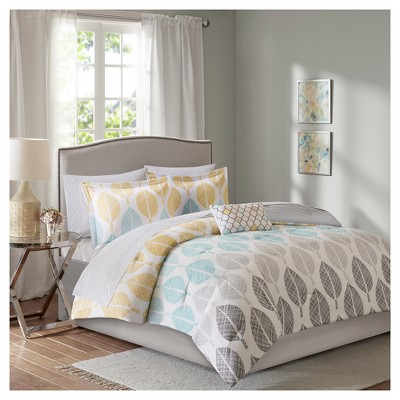 Yellow/Aqua Prospect Park Complete Comforter Set California King
