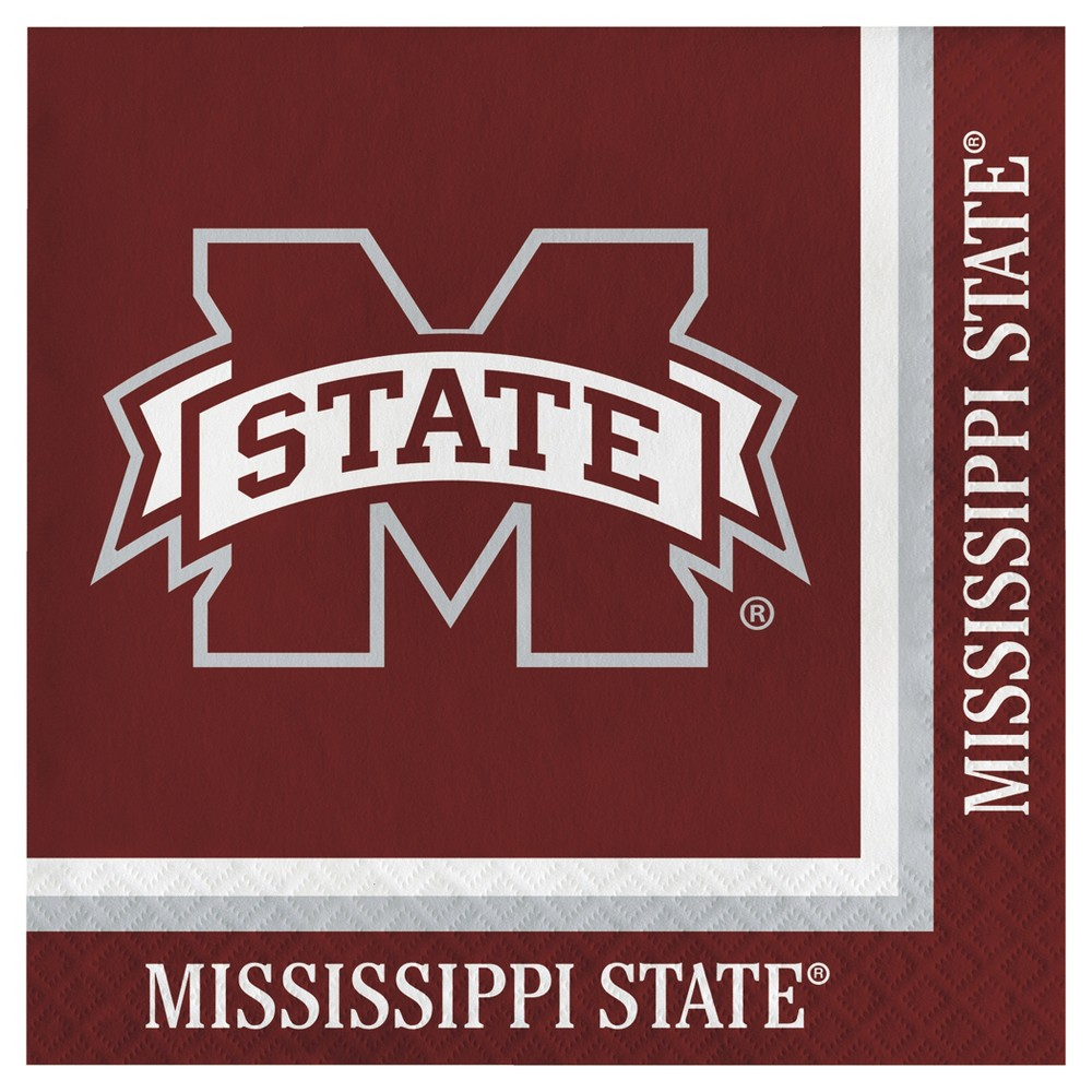 Image of 20ct Mississippi State Bulldogs University Napkins
