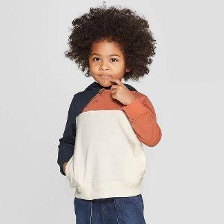 Genuine Kids® from Oshkosh Toddler Boys' Color-Block Hoodie - Cream 4T