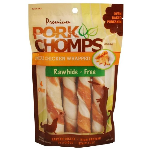 """Nutri Chomps Pork Chomps Real Chicken Wrapped Twists - 5"""" - image 1 of 4"""