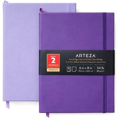 Arteza Premium Dotted Paper Note Journals, Lavender & Purple - 2 Pack