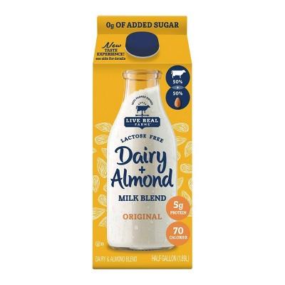 Live Real Farms Dairy Original Unsweetened AlmondMilk Blend - 0.5gal