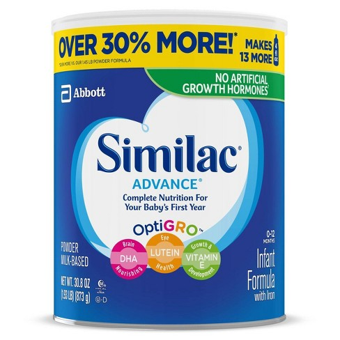 Similac Advance Infant Formula with Iron Powder - 30.8oz - image 1 of 4