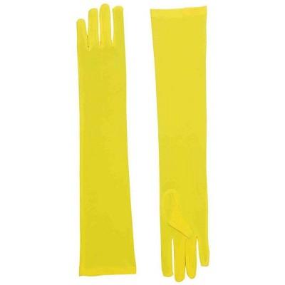 Forum Novelties Long Yellow Adult Female Costume Nylon Dress Gloves